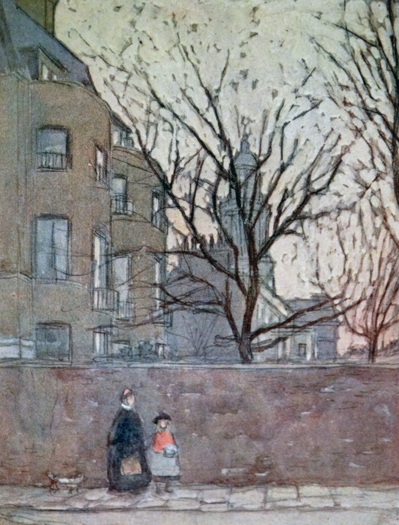 Dickens House Watercolour small size